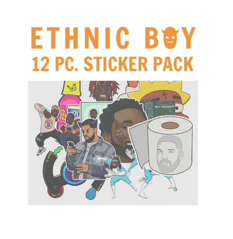 12 Pc. Sticker Pack