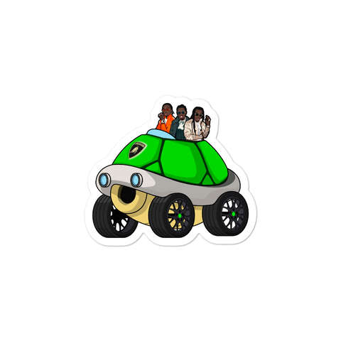 Green Lamborghini Sticker