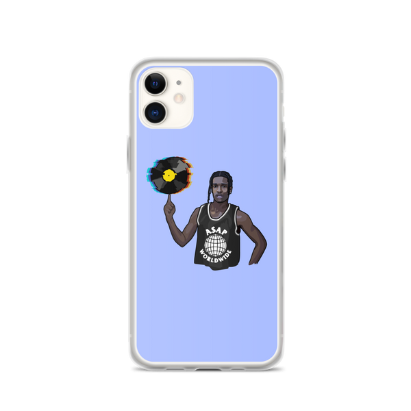 A$AP Rocky Distorted Records Blue iPhone Case
