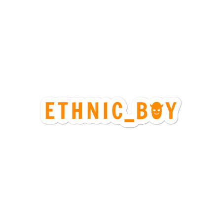 Ethnic Boy Logo Sticker
