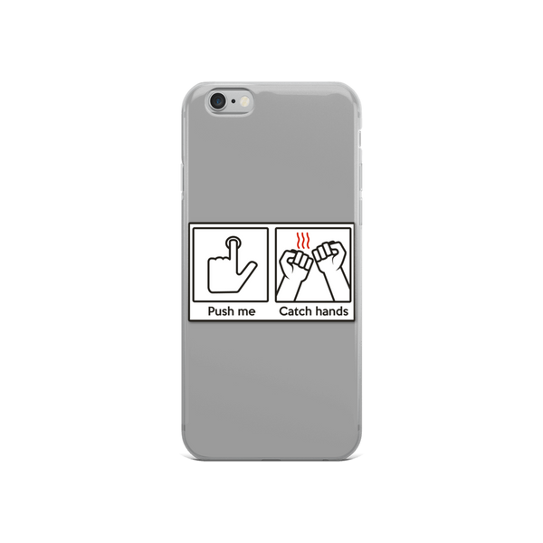 Push Me Catch Hands iPhone Case