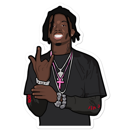 Playboi Carti Horns Sticker