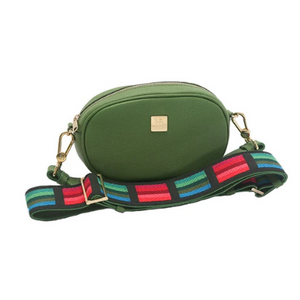 Hampton Road Green Leather Annie with Guitar Strap