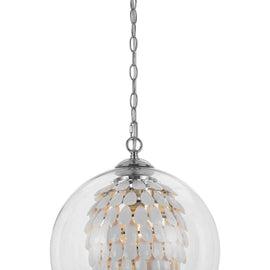 "AF Lighting Cascading Crystals Statement Piece 1 Light Glitzy Chandelier 14""""D - White"