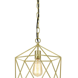 "AF Lighting 12""""W x 13.75""""H Versatile 1 Light Bellini Chandelier - Brushed Gold"