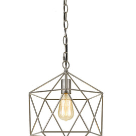 "AF Lighting 12""""W x 13.75""""H Versatile 1 Light Bellini Chandelier - Brushed Nickel"