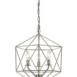 "AF Lighting Modern Minimalist Style 3 Light Bellini Chandelier 16""""W x 17.25""""H - Brushed Nickel"