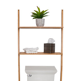 Best Living Bamboo 2 Tier Bathroom Utility shelf - Nature Bamboo Finish