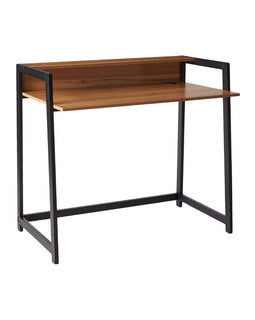 Home Wood/Metal School Student Desk - Wide, Dark
