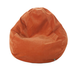 Majestic Home Goods Villa Orange Small Classic Bean Bag