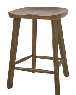 "NADA Home Tractor 25"""" Counter Height Stool in Warm Honeysuckle Finish"