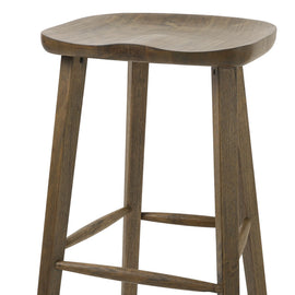 "NADA Home Tractor 30"""" Bar Height Stool in Vintage Smoke Wire Brush"