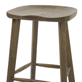"NADA Home Tractor 25"""" Counter Height Stool in Vintage Smoke Wire Brush"