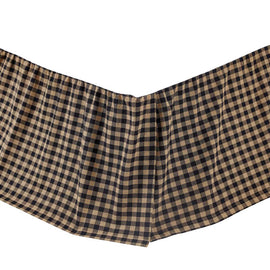 Black Check Twin Bed Skirt