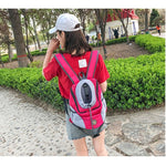 Venxuis New Out Double Shoulder Portable Travel Backpack Outdoor Pet Dog Carrier Bag Pet Dog Front Bag Mesh Backpack Head