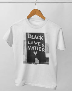 Black Lives Matter adult tee. norm. White XS