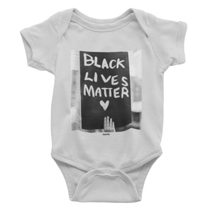 Black Lives Matter onesie. norm. Athletic Heather 3-6m