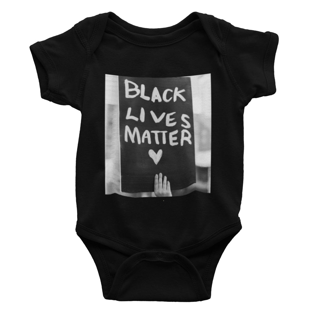 Black Lives Matter onesie. norm. Black 3-6m