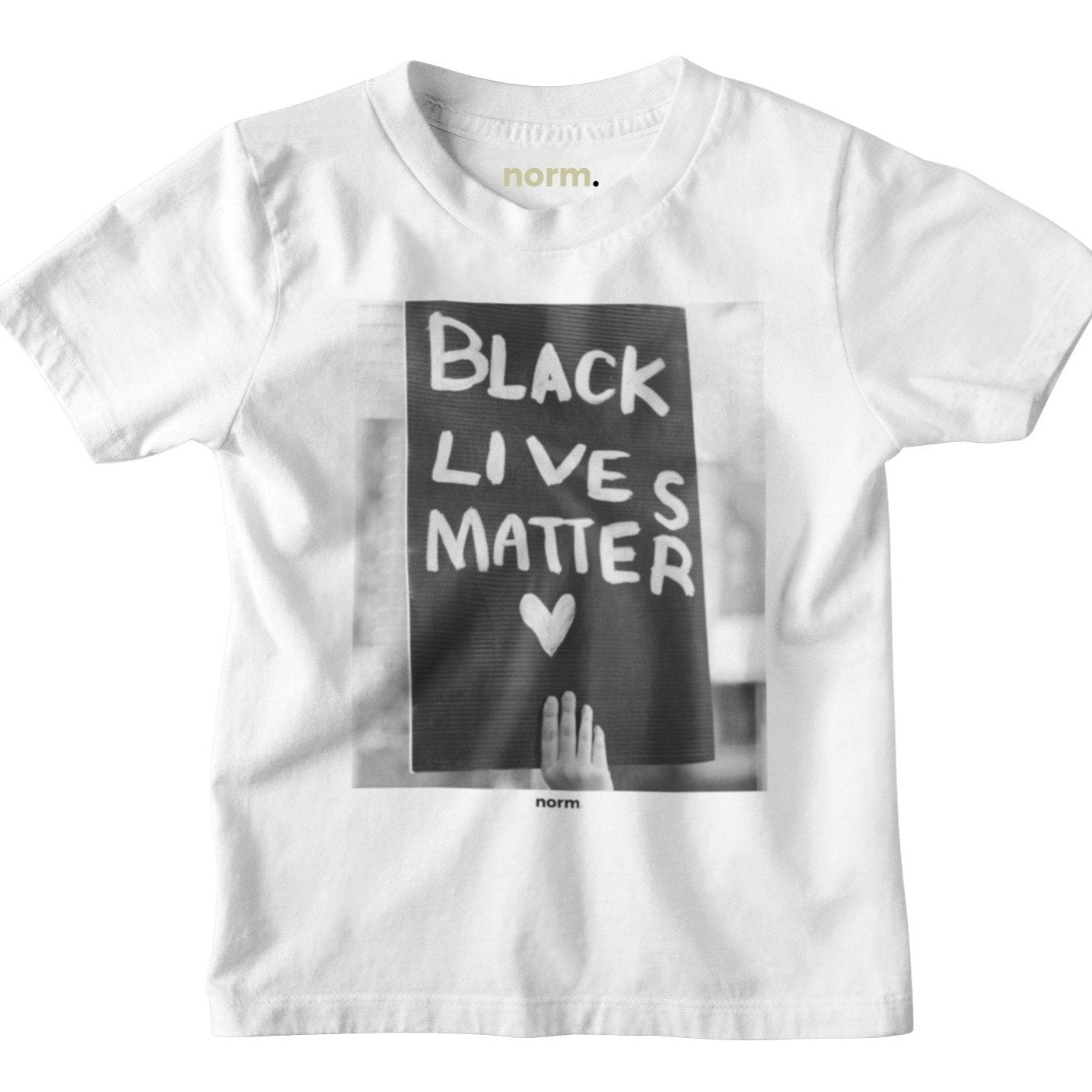 Black Lives Matter toddler tee. norm. White 2T