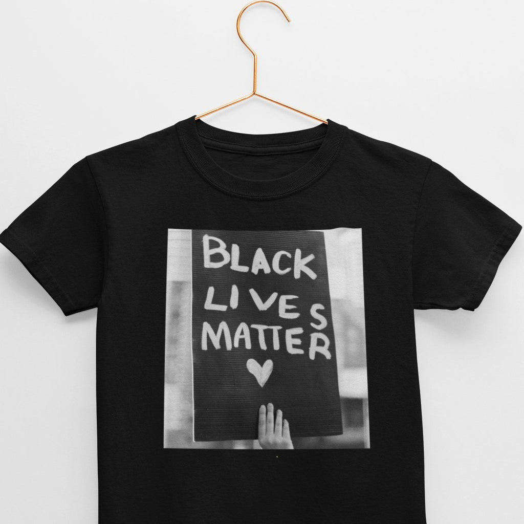 Black Lives Matter youth tee. norm. Black S
