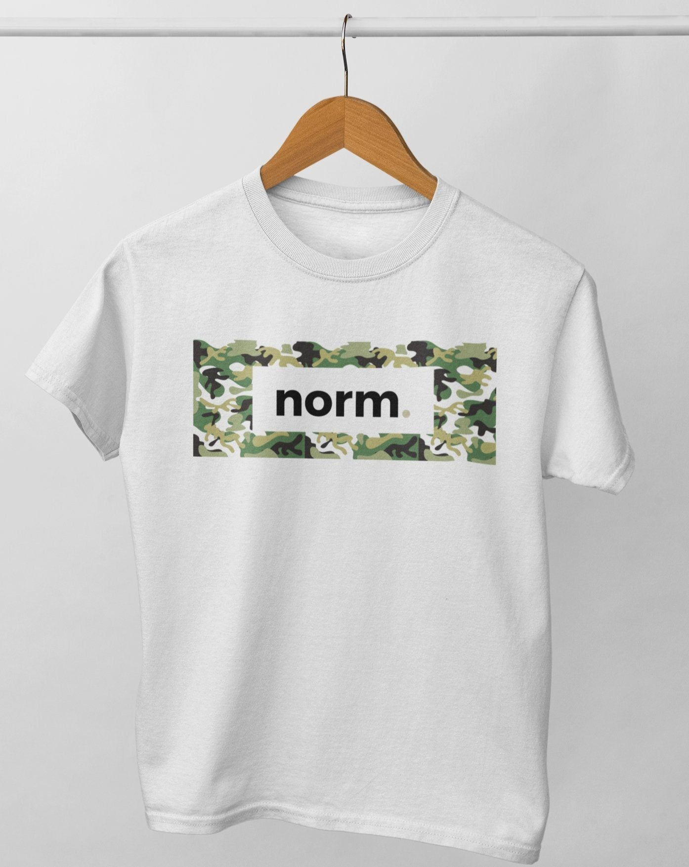 Caleb adult tee. norm. White XS
