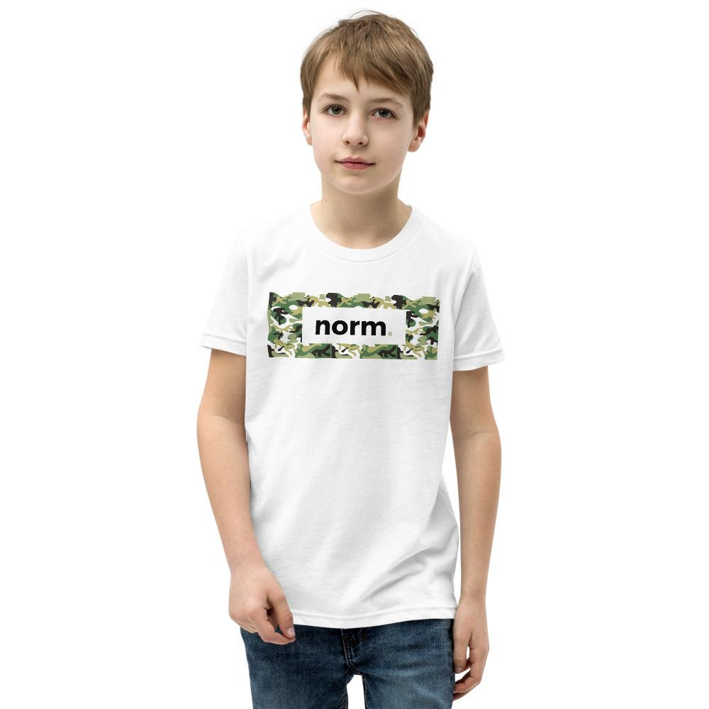 Caleb youth tee. norm. White S