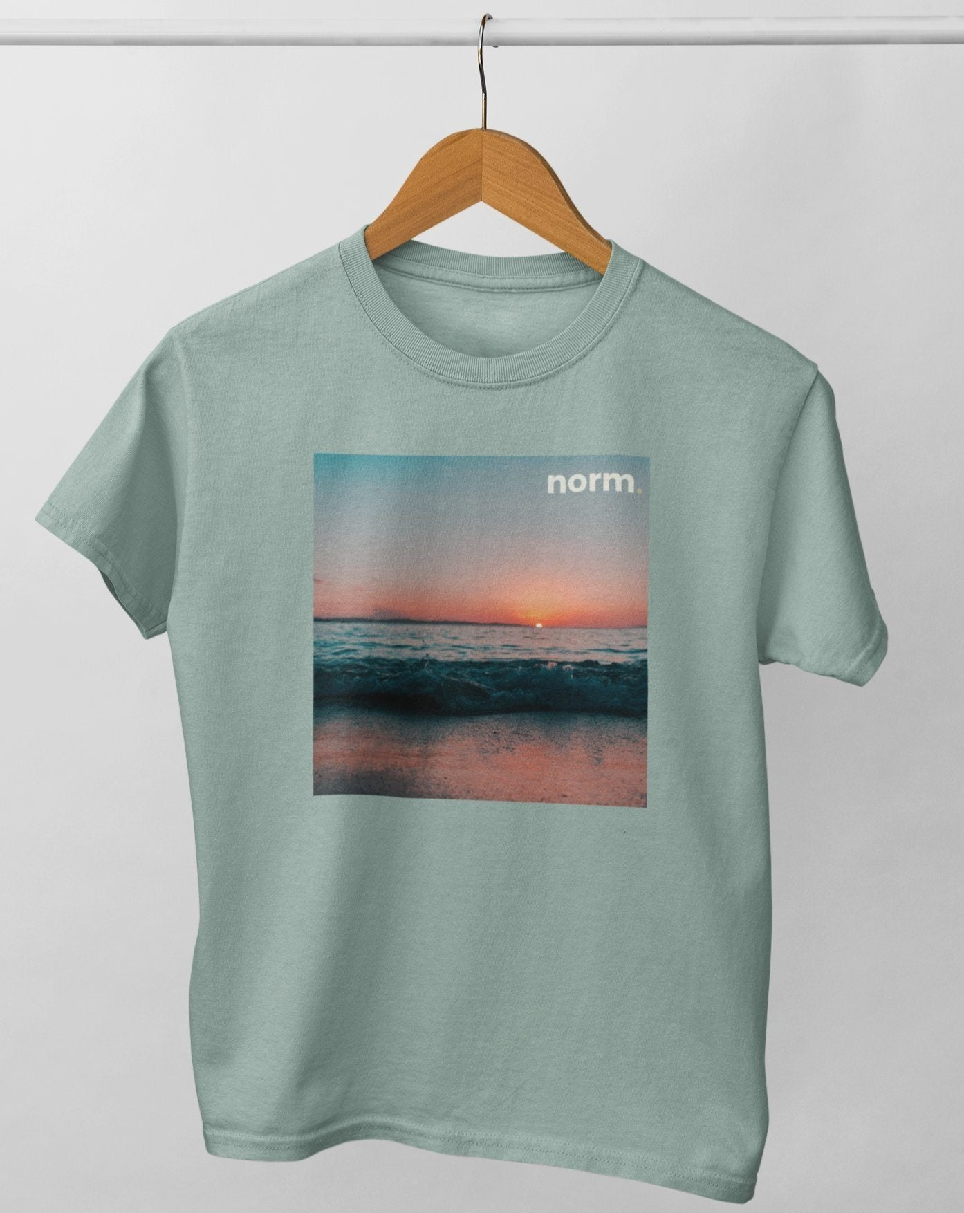 Danny adult tee. norm. Heather Green XS