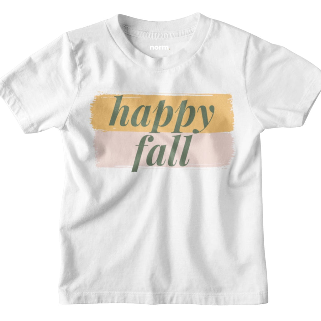 Happy Fall toddler tee. norm. White 2T