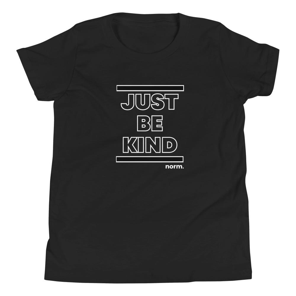 Just Be Kind youth tee. norm. S