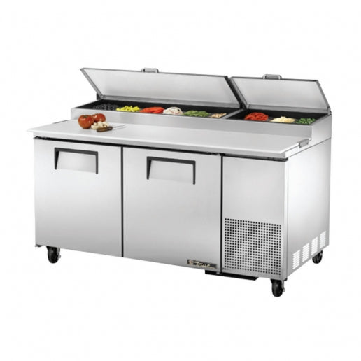 True TPP-67 Two Door Refrigerated Pizza Prep Table