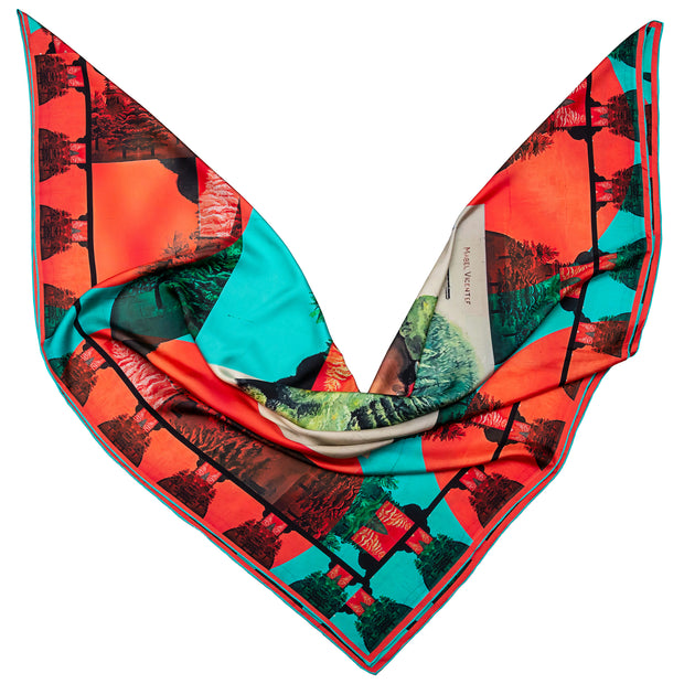 streetart-silk-scarf-buenos-aires-by-mocomoco-berlin-artist-mabel-vicentef-scarf-with-motif-women-with-river-and-forest-in-her-head-lying-folded-in-bird-wing-shape-2