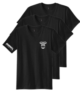 Soft Cotton T-Shirt PACK OF 3 (JET BLACK)
