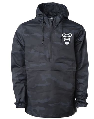 Lightweight Pullover Windbreaker Jacket (CAMO BLACK)