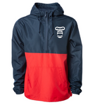 Lightweight Pullover Windbreaker Jacket (BLUE and RED)