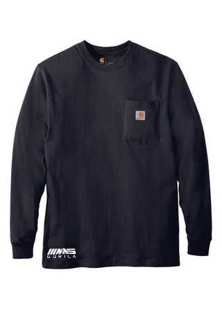 Carhartt® Workwear Pocket Long Sleeve T-Shirt (Navy)