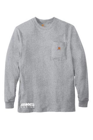 Carhartt® Workwear Pocket Long Sleeve T-Shirt (Heather Grey)