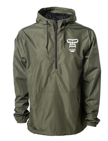 Lightweight Pullover Windbreaker Jacket (DARK GREEN)