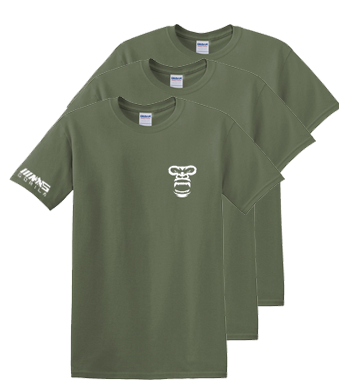 Soft Cotton T-Shirts PACK OF 3 (ARMY GREEN)