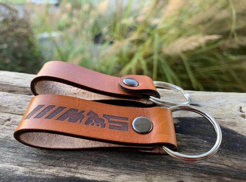 Handmade Leather M5 Keychain
