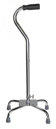 Lg base chrome quad cane