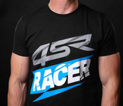 T-Shirt Racer Black - 4SR