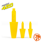 Yellow formula 420 cleaning plugs