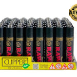 Display de 48x Encendedores CLIPPER Edición RAW BLACK - Roostershop