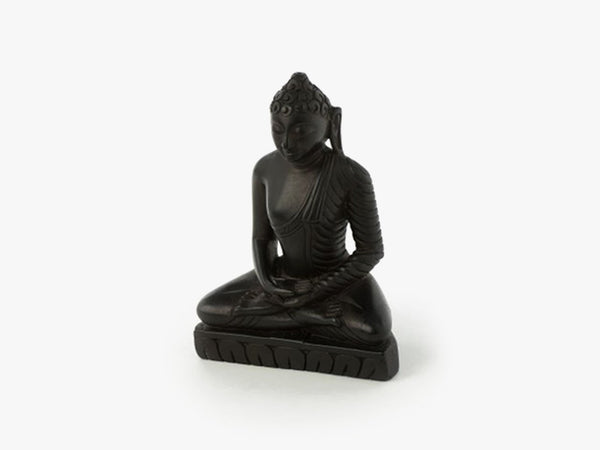 Sitting Buddha - Black Soft Granite