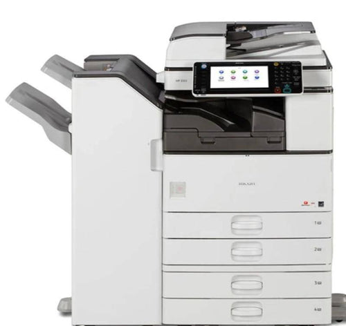 Ricoh MP 3353 B/W Multi-function Copy/Print/Scan/Fax 4 trays Finisher