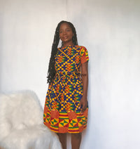 Kente skater Dress - SUFUI
