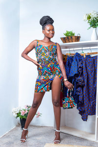 Ankara Side slit 2pieces- OLA