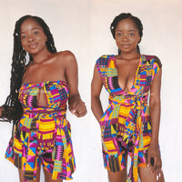 KENTE INFINITY ROMPER- PURPLE