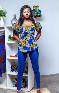 ANKARA OFF SHOULDER TOP- TOLANI