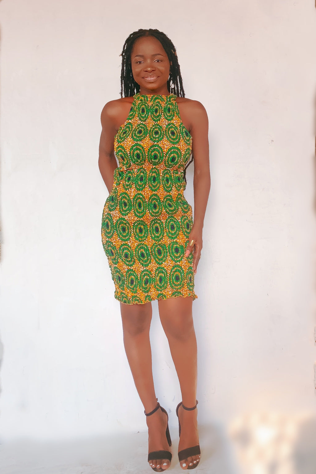 Ankara elastic Body con dress
